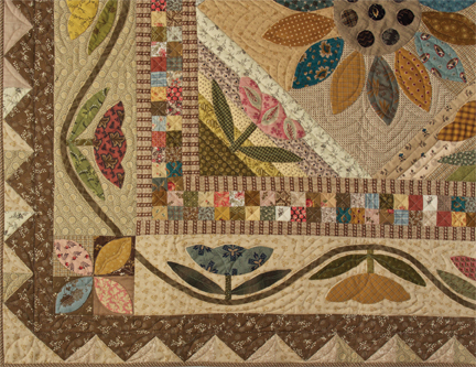 Field Of Flowers Patchwork And Applique Quilt Pattern