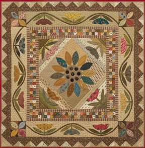 Field Of Flowers patchwork and applique quilt pattern project ... : applique quilts patterns - Adamdwight.com