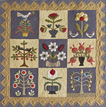 Pick Your Flowers applique quilt project | Timeless Traditions ... : applique for quilts - Adamdwight.com