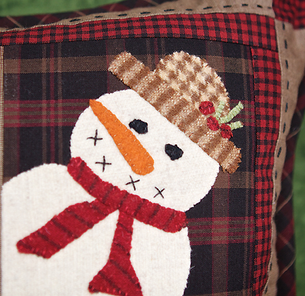 Snow Buddies Applique Pillow Project Timeless Traditions